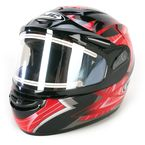 Black/Red/Silver Storm CS-R2SN Helmet w/Electric Shield - 115-912