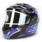 Black/Blue/Silver Storm CS-R2SN Helmet w/Electric Shield - 115-922