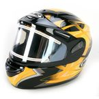 Black/Yellow/Silver Storm CS-R2SN Helmet w/Electric Shield - 115-936