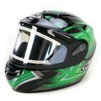 Black/Green/Silver Storm CS-R2SN Helmet w/Electric Shield - 115-942