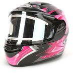 Black/Pink/Silver Storm CS-R2SN Helmet w/Electric Shield - 115-986