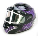 Black/Purple/Silver Storm CS-R2SN Helmet w/Electric Shield - 115-996