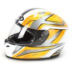 White/Yellow/Black Ace FG-17 Helmet - 628-935