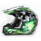 Black/Green Multi FX-17 Inferno Helmet - 0110-3536
