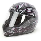 Black/Pink To the Nines SS700 Helmet - 87-5987