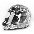 White/Silver To the Nines SS700 Helmet - 87-6000