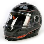 Black/Orange Fuel Modular Helmet  - 14430
