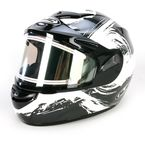 Black/White CS-R2SN Contrast Helmet w/Electric Shield - 117-956