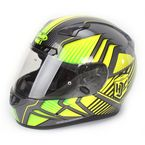 Hi-Vis Yellow/Charcoal/Black MC-3H CL-17 Redline Helmet - 828-937