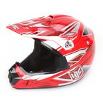 Youth Red/Silver MC-1 CL-XY Fulcrum Helmet - 278-914