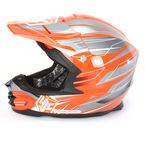 Orange/Charcoal/White MC-6 FG-X Talon Helmet - 336-966