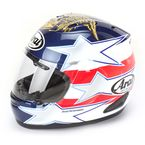 Red/White/Blue Corsair-V Edwards Patriot Helmet  - CORSAIR-V