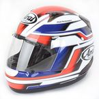 Red/White/Blue RX-Q Electric Tri Color Helmet  - RX-Q