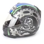 Black/Blue/Green Defiant Jolly Roger 2 Helmet