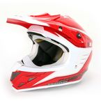 Red/White VX-34 Spike Helmet - 34-2015