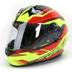 Neon Green/Red/Black EXO-R410 Airline Helmet - 41-8515