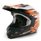 Orange/Black/White VX-R70 Flux Helmet - 70-2086