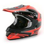 Neon Red/Black VX-R70 Quartz Helmet - 70-3833