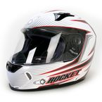 White/Black/Red MC-10 R1000X Lithium Helmet - 158-904