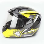 Yellow/Black CS-R2SN MC-3 Seca Helmet with Framed Dual Lens Shield - 243-934