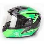 Green/Black CS-R2SN MC-4 Seca Helmet with Framed Dual Lens Shield - 243-946