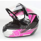 Pink/Black CS-R2SN MC-8 Seca Helmet with Framed Dual Lens Shield - 55-18786