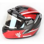 Red/Black/Silver CS-R2SN MC-1 Seca Helmet with Framed Electric Shield - 143-914