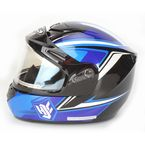Blue/Black/Silver CS-R2SN MC-2 Seca Helmet with Framed Electric Shield - 55-28726