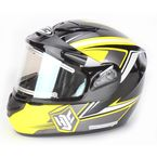 Yellow/Black CS-R2SN MC-3 Seca Helmet with Framed Electric Shield - 143-934