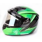 Green/Black CS-R2SN MC-4 Seca Helmet with Framed Electric Shield - 143-944