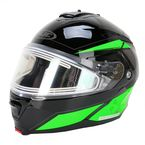 Black/Green/Silver IS-MAX 2 MC-4 Elemental Helmet w/Electric Shield - 185-946