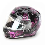 Black/Pink/White CL-17SN MC-8 Mystic Helmet w/Frameless Electric Shield - 131-984