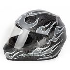 Glossy Silver SS700 Trial By Fire Helmet - 87-5783