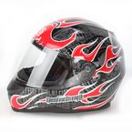 Glossy Red SS700 Trial By Fire Helmet - 87-5794