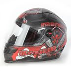 Matte Black/Red SS1300 Live By The Sword Helmet - 87-6769