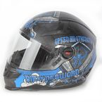 Matte Black/Blue SS1300 Live By The Sword Helmet - 87-6780
