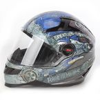 Glossy Black/Blue SS1300 Rage With The Machine Helmet - 87-6785