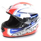 Red/White/Blue EXO-T1200 Sight Helmet - T12-4595