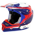 Red/White/Blue F4 ECE Certified Helmet (Non-Current) - 5106-001-140-182