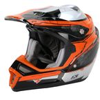 Orange/Black/Silver F4 ECE Certified Helmet (Non-Current) - 5106-001-140-400