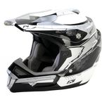 Black/Silver/White F4 ECE Certified Helmet (Non-Current) - 5106-001-140-000