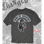 Charcoal SOA Logo Patch T-Shirt - 28-605-10CH-XXL
