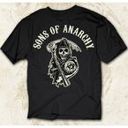 Black SOA Arched with Reaper T-Shirt - 28-601-16BK-M