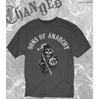 Charcoal SOA Arched with Reaper T-Shirt - 28-601-16CH-L