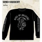 Black Fear The Reaper Long Sleeve Tee - 28-405-38BK-XXL