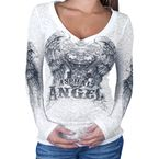 Womens Asphalt Angel Long Sleeve T-Shirt - GLC3009L