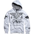 White Steel Faith Zip Hoody - 45154-008-S