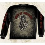Long Sleeve Reaper Crew T-Shirt - 28-401-37BK-M
