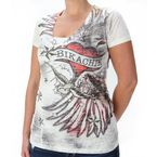 Ladies Wings & Heart Burnout Tee