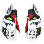 Black/Red/Yellow GPX Leather Gloves - 3567013-136-M
